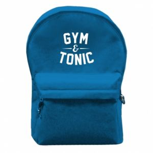 Backpack with front pocket Gym and tonic