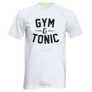 Men's sports t-shirt Gym and tonic