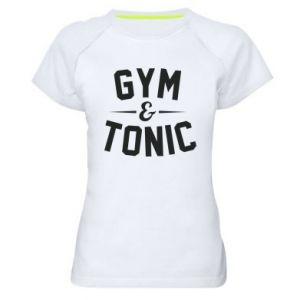 Women's sports t-shirt Gym and tonic
