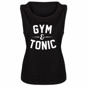 Damska koszulka bez rękawów Gym and tonic