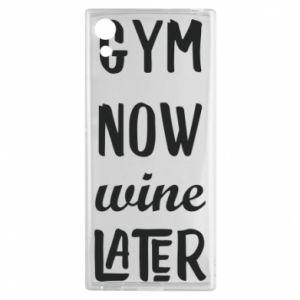Sony Xperia XA1 Case Gym Now Wine Later