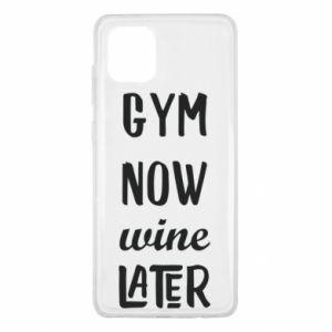 Samsung Note 10 Lite Case Gym Now Wine Later