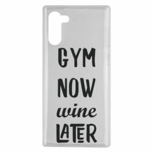 Samsung Note 10 Case Gym Now Wine Later