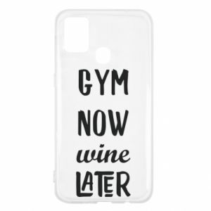 Samsung M31 Case Gym Now Wine Later