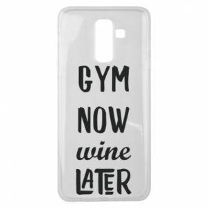 Samsung J8 2018 Case Gym Now Wine Later