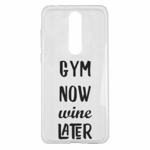 Nokia 5.1 Plus Case Gym Now Wine Later