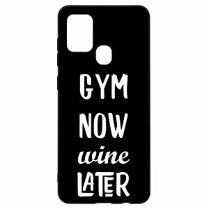 Samsung A21s Case Gym Now Wine Later