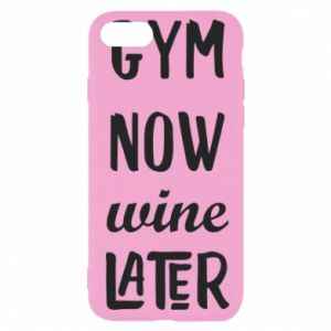 iPhone SE 2020 Case Gym Now Wine Later