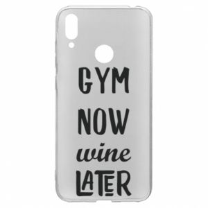 Huawei Y7 2019 Case Gym Now Wine Later