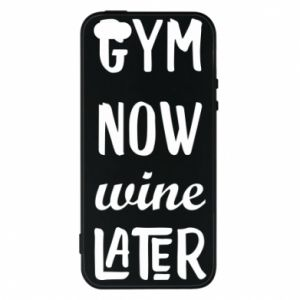 Etui na iPhone 5/5S/SE Gym Now Wine Later