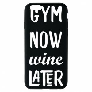 Etui na iPhone 6/6S Gym Now Wine Later - PrintSalon