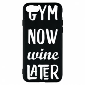 Etui na iPhone 7 Gym Now Wine Later - PrintSalon