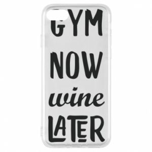 Etui na iPhone 8 Gym Now Wine Later - PrintSalon