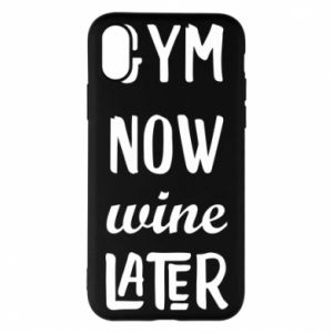 Etui na iPhone X/Xs Gym Now Wine Later