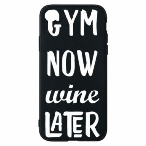 Etui na iPhone XR Gym Now Wine Later - PrintSalon