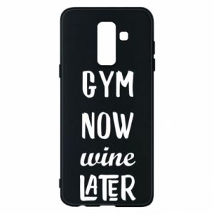 Etui na Samsung A6+ 2018 Gym Now Wine Later