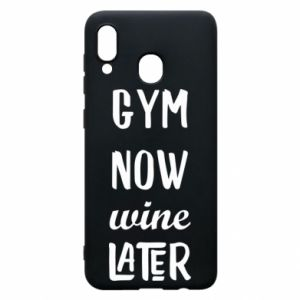 Etui na Samsung A20 Gym Now Wine Later