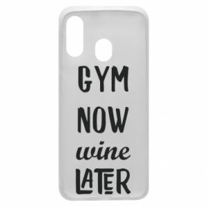 Etui na Samsung A40 Gym Now Wine Later