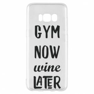 Etui na Samsung S8 Gym Now Wine Later