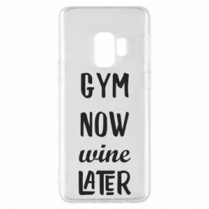Etui na Samsung S9 Gym Now Wine Later