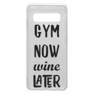 Etui na Samsung S10 Gym Now Wine Later