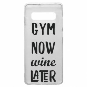 Etui na Samsung S10+ Gym Now Wine Later