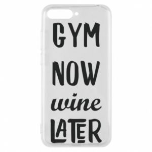 Etui na Huawei Y6 2018 Gym Now Wine Later