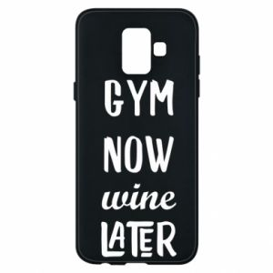Etui na Samsung A6 2018 Gym Now Wine Later