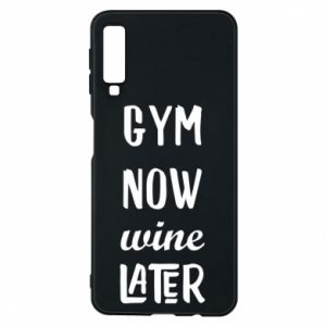 Etui na Samsung A7 2018 Gym Now Wine Later