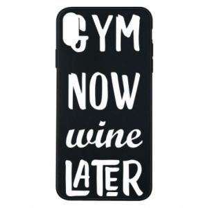 Etui na iPhone Xs Max Gym Now Wine Later - PrintSalon