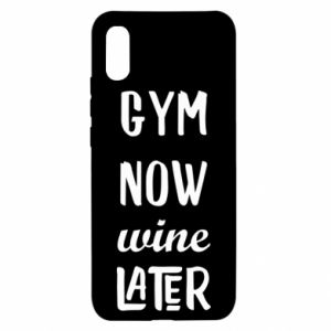 Etui na Xiaomi Redmi 9a Gym Now Wine Later