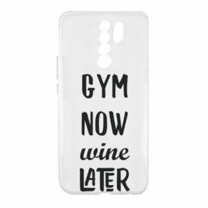 Xiaomi Redmi 9 Case Gym Now Wine Later