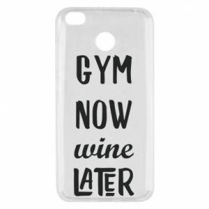 Xiaomi Redmi 4X Case Gym Now Wine Later