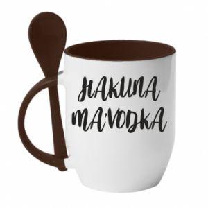 Kubek z ceramiczną łyżeczką Hakuna ma'vodka