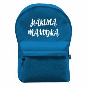 Plecak z przednią kieszenią Hakuna ma'vodka