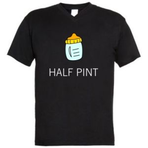 Men's V-neck t-shirt Half pint