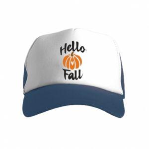 Czapka trucker dziecięca Hallo Fall