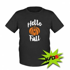 Kids T-shirt Hallo Fall