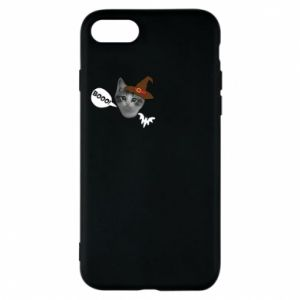 Etui na iPhone 8 Halloween. Kotek - PrintSalon