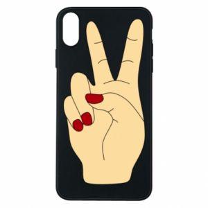Phone case for iPhone Xs Max Hand peace - PrintSalon