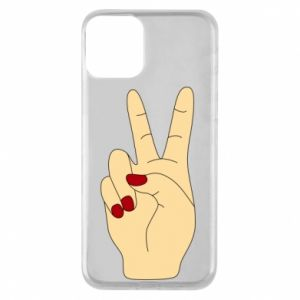Phone case for iPhone 11 Hand peace - PrintSalon