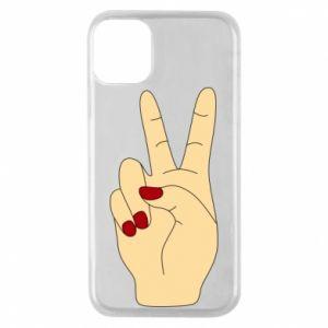 Phone case for iPhone 11 Pro Hand peace - PrintSalon