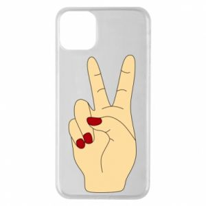 Phone case for iPhone 11 Pro Max Hand peace - PrintSalon