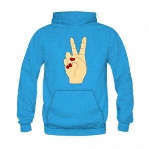 Bluza z kapturem dziecięca Hand peace