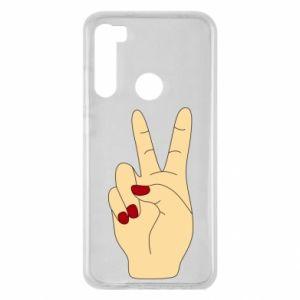 Etui na Xiaomi Redmi Note 8 Hand peace