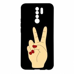 Etui na Xiaomi Redmi 9 Hand peace