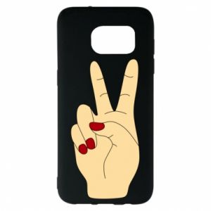 Etui na Samsung S7 EDGE Hand peace