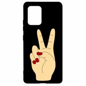 Etui na Samsung S10 Lite Hand peace