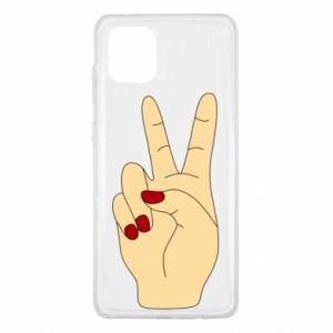 Etui na Samsung Note 10 Lite Hand peace