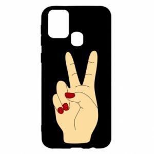 Etui na Samsung M31 Hand peace